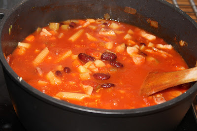 Minestrone med bacon
