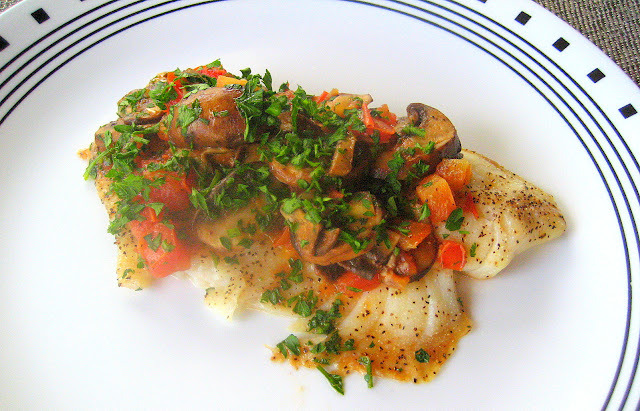 Tilapia with Tomatoes and Mushrooms