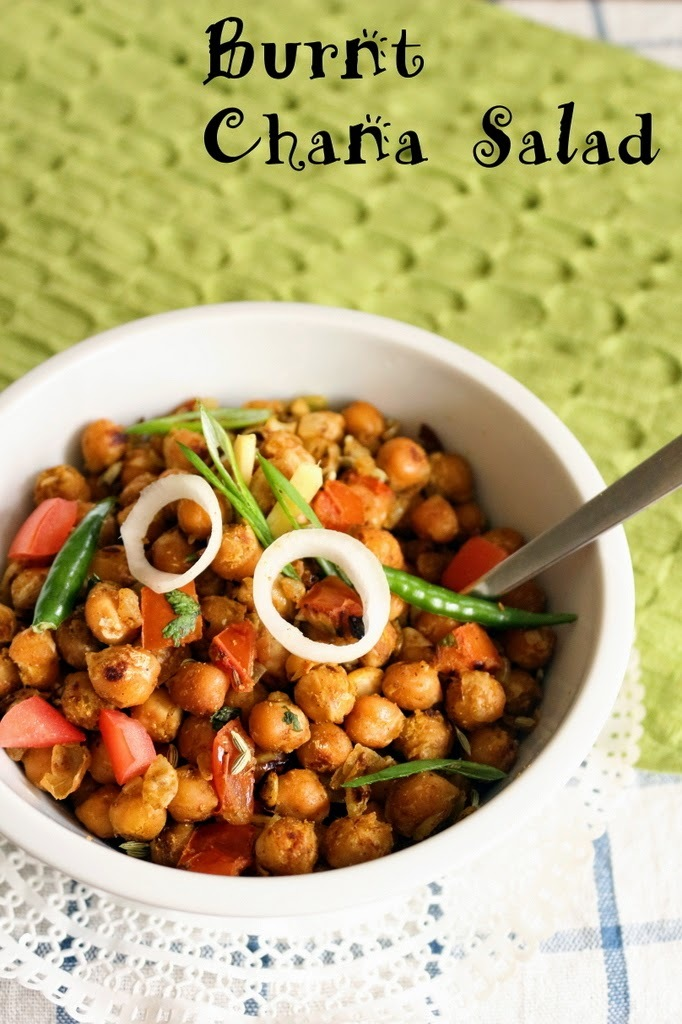 Recipe of Burnt Chana Salad | How to Make Chickpeas Salad
