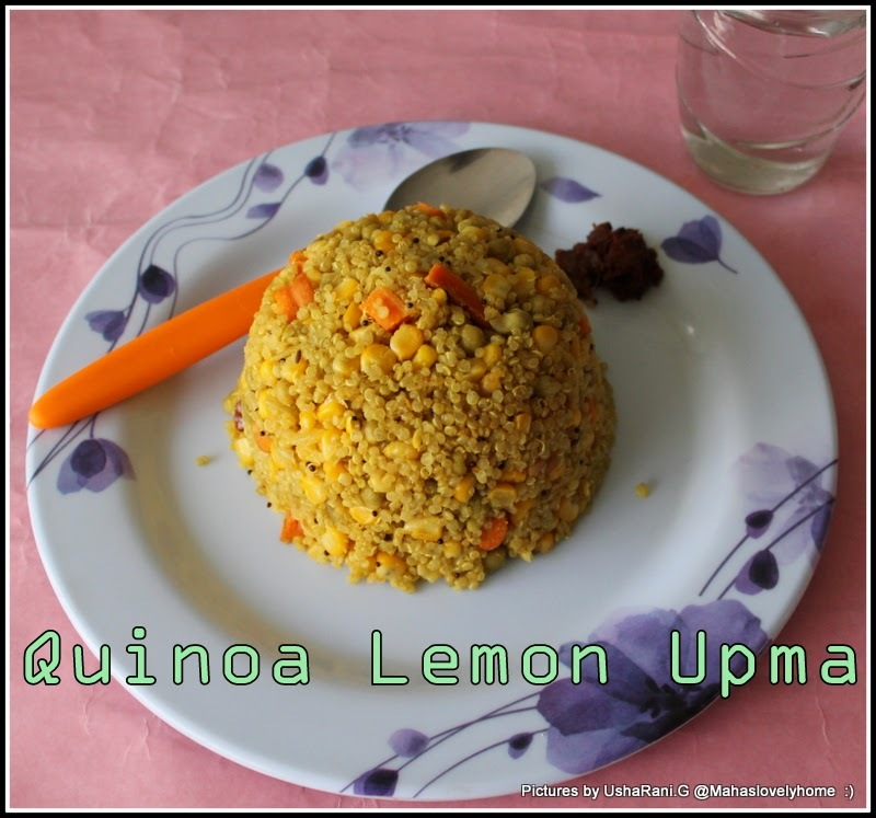 Indian Style Quinoa Lemon Upma | Healthy Vegetarian South Indian Break fast Recipes | Gluten free Quinoa Upma |Vegan Quinoa Recipes