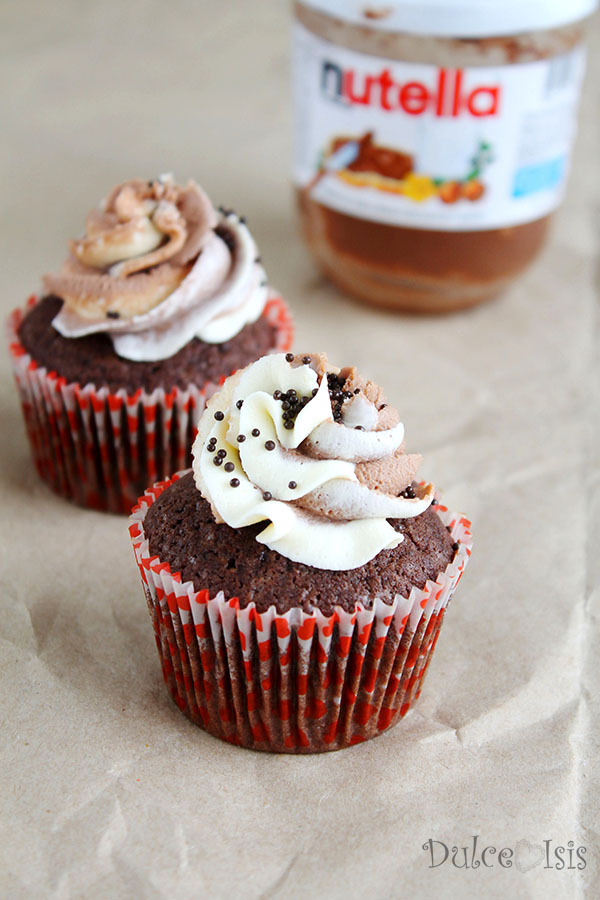 Cupcakes de Nutella con Doble Buttercream