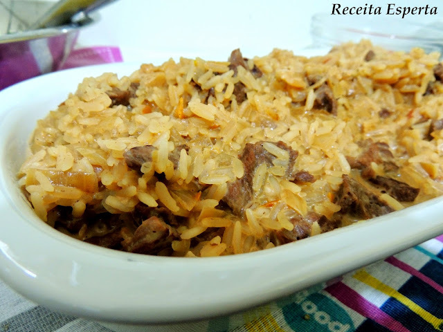 ARROZ CREMOSO COM SOBRAS DE CHURRASCO