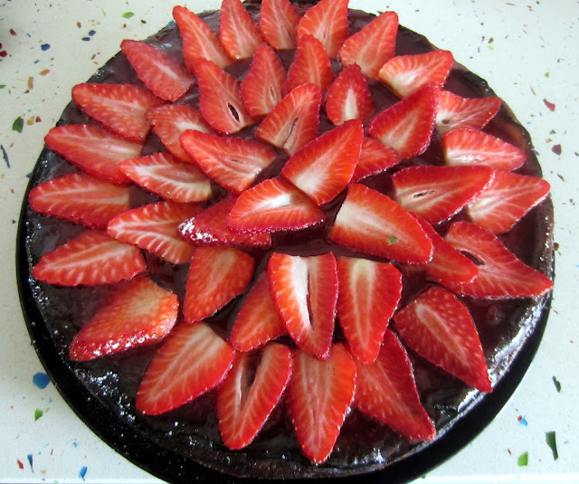 Tarta de Queso y Galleta con fresas