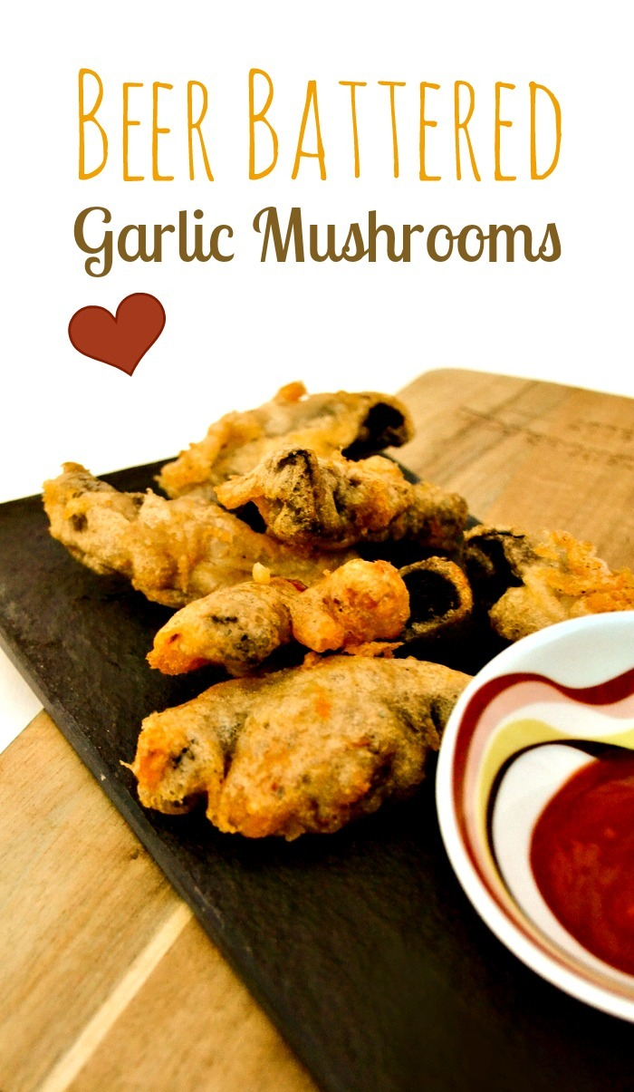 Beer Battered Garlic Mushrooms