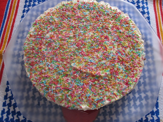 Cheesecake tricolor
