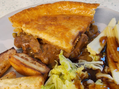 Herby lamb and pea pie