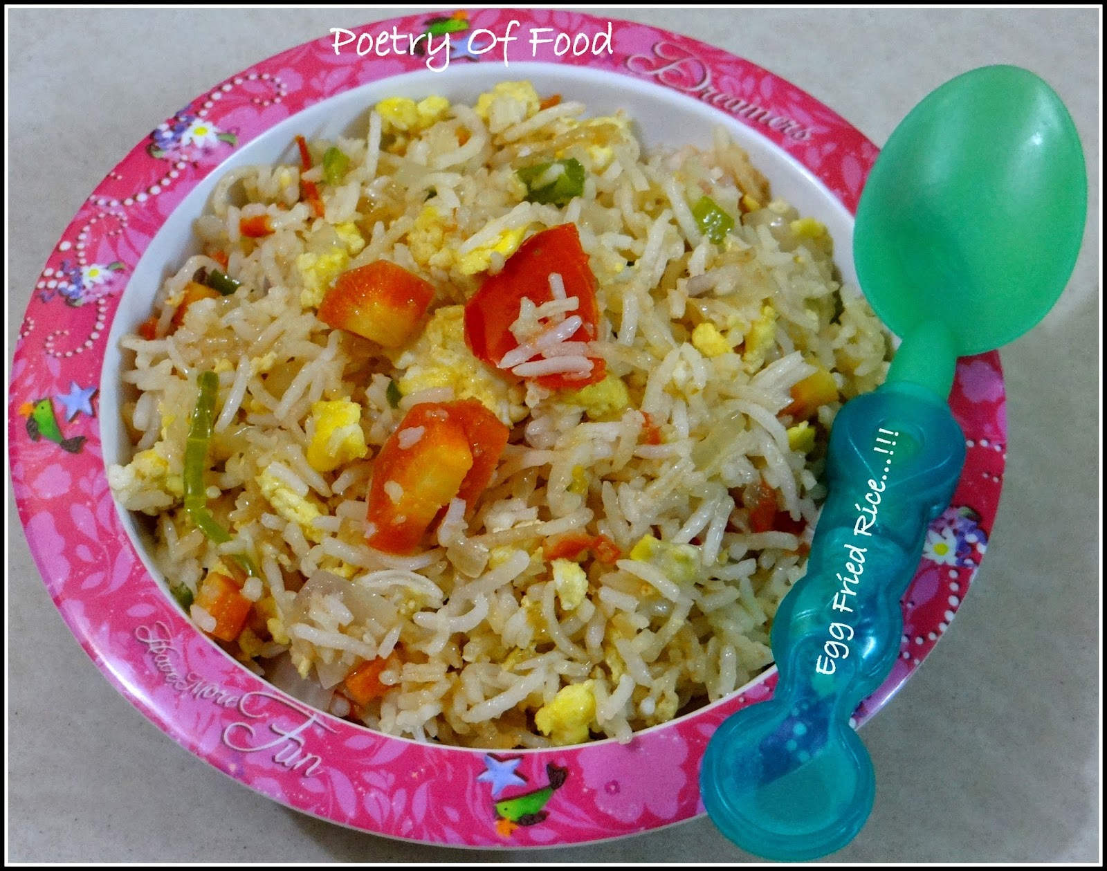 Kids Friendly Egg Fried Rice...!!!