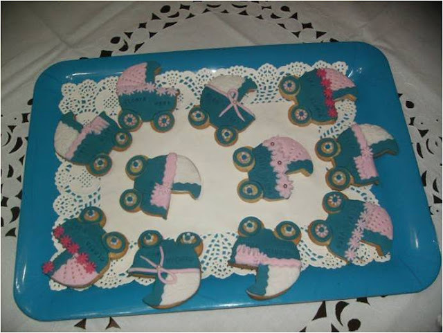 GALLETAS DE COCHECITOS DECORADAS CON FONDANT