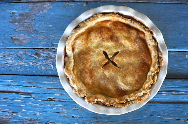 Apple & Pear Pie with Cornmeal Crust