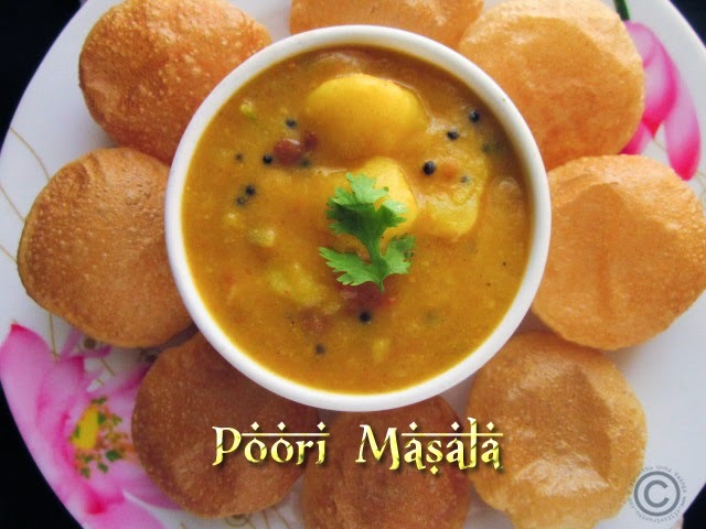 POORI MASALA I POTATO MASALA FOR POORI I BREAKFAST RECIPES