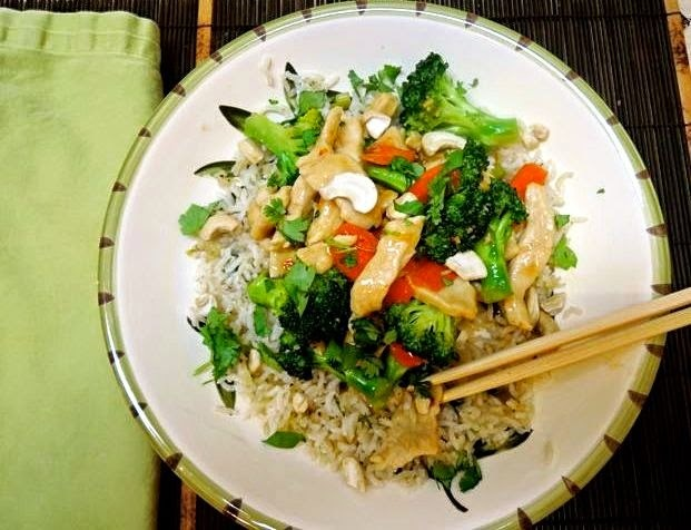 Chicken and Broccoli Stir-Fry with Thai Coconut Sauce