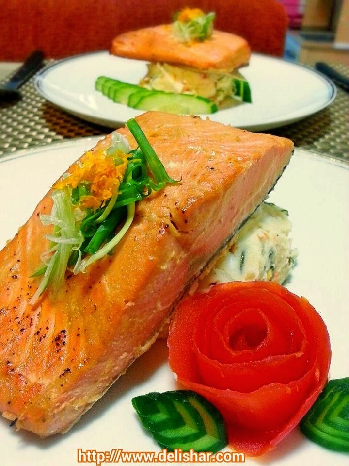 Baked Orange Miso Salmon