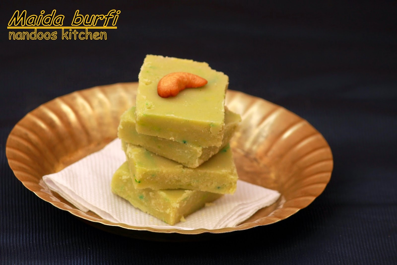 Maida burfi / Maida cake / Easy diwali sweet