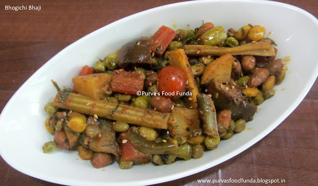 Bhogichi Bhaji ~ Maharashtrian Style Mix Vegetable for Bhogi