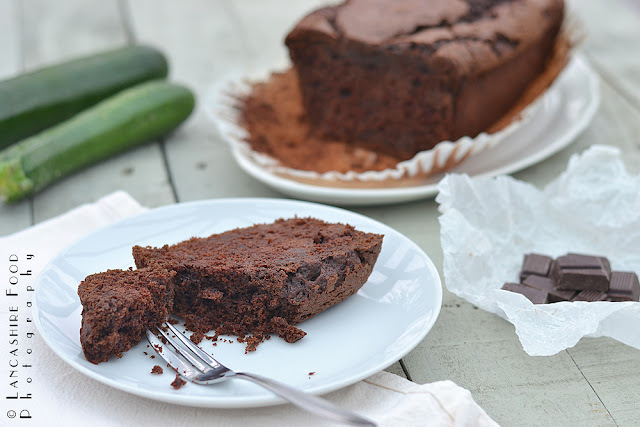 green and blacks chocolate courgette loaf