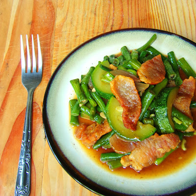 Sauteed Yard Long Beans and Zucchini in Oyster Sauce