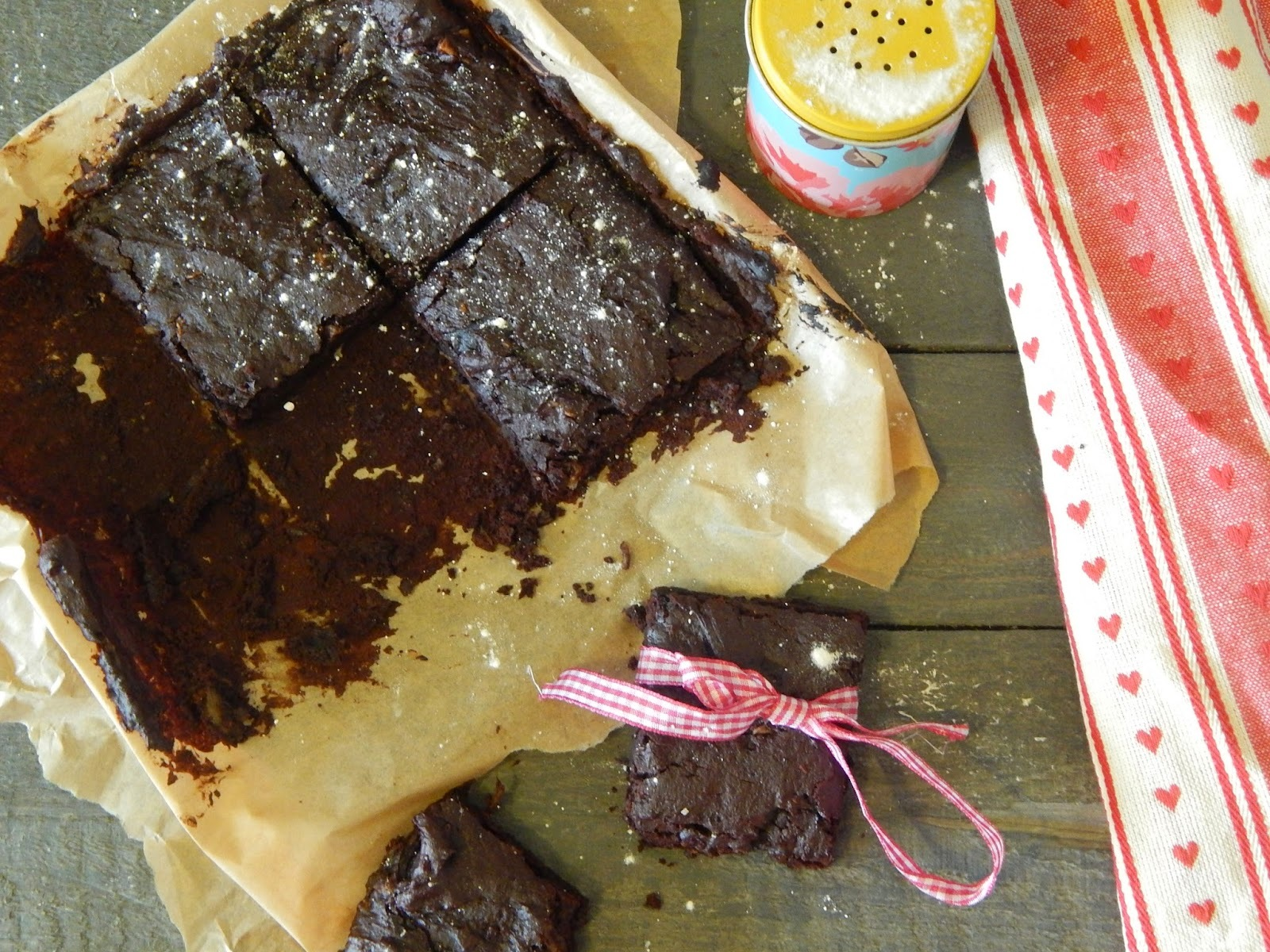 Dark Chocolate and Ginger Brownies