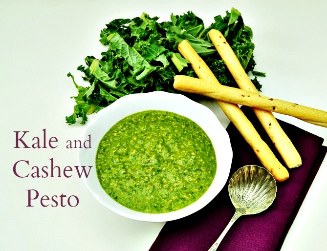 Kale and Cashew Pesto (dairy free & vegan)
