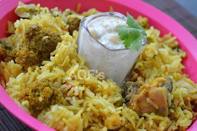 how to cook chicken biryani in rice cooker