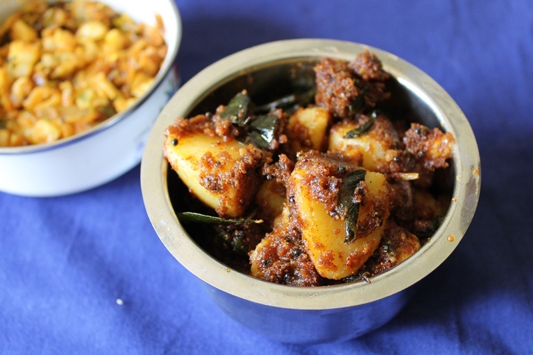 Sambar Potato Roast / Roasted Potatoes flavoured with Sambar  Powder