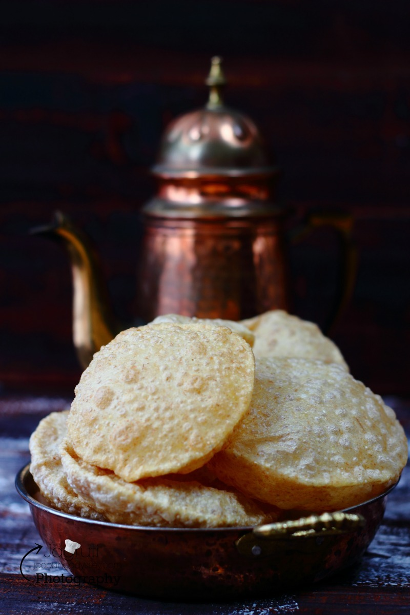 Poori-Puri - Unleavened Deep Fried Indian Bread #jcookingodyssey #nowonblog