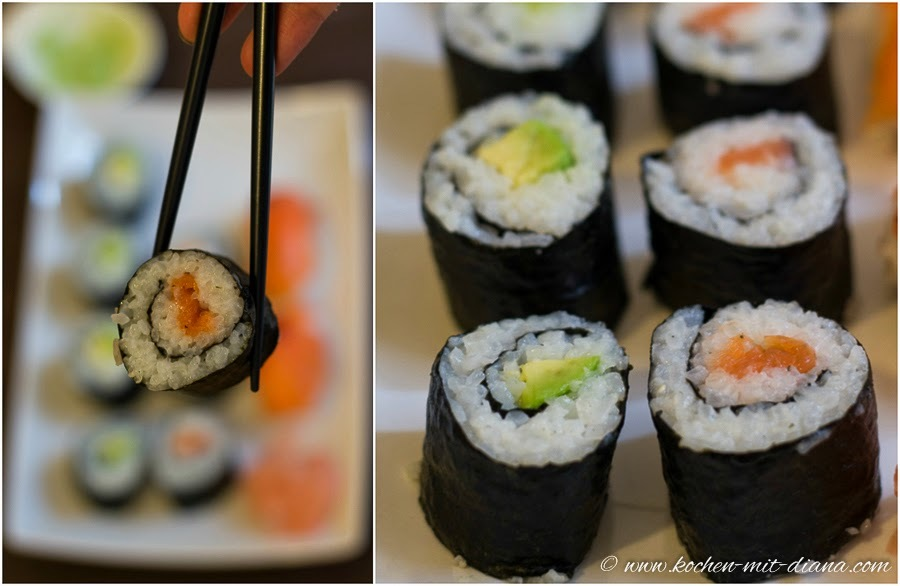 Selbstgemachtes Maki und Sushi/ Home made maki and sushi