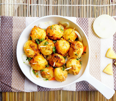 How to make tandoori Aloo