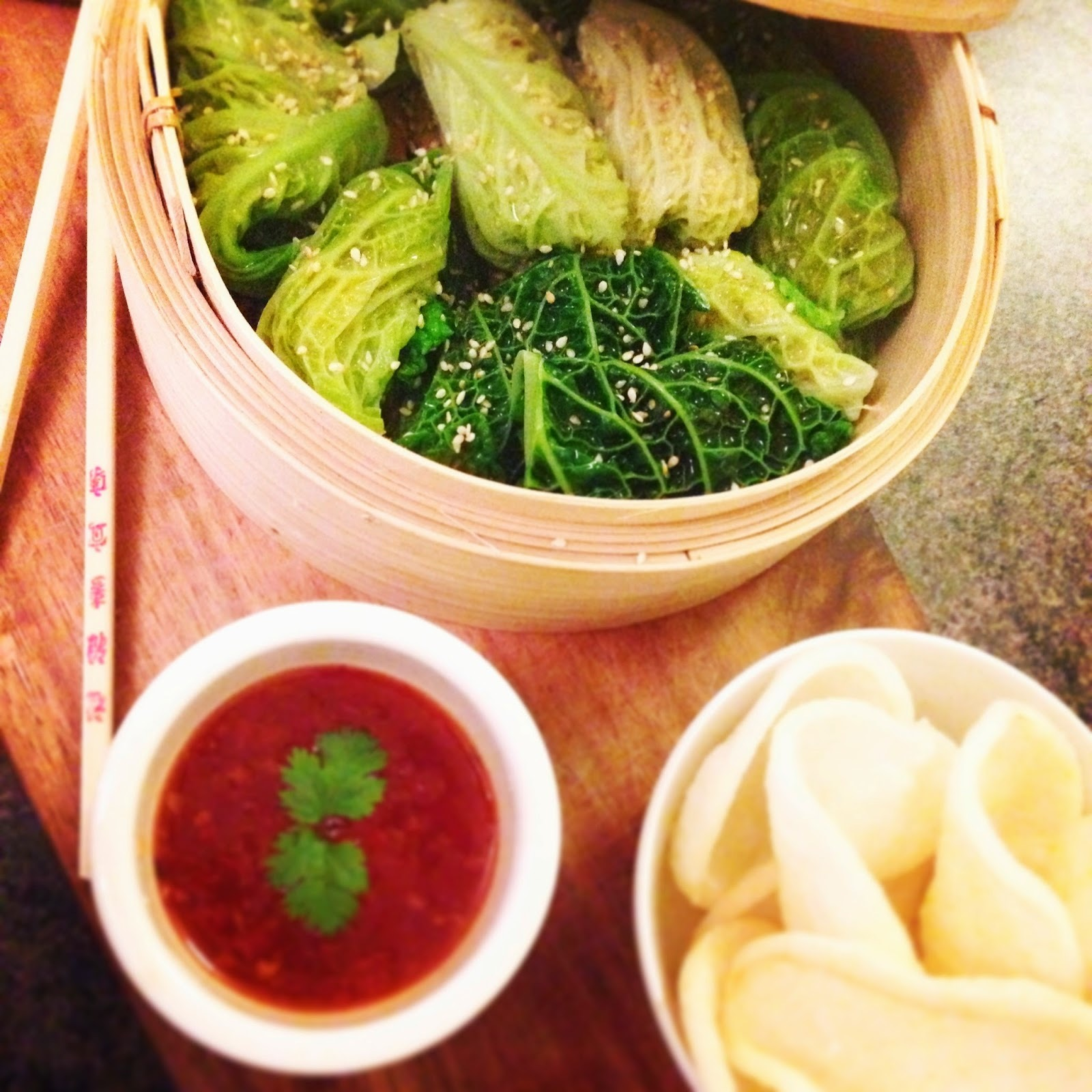 Jamie Oliver's Steamed Asian Chicken & Cabbage Parcels