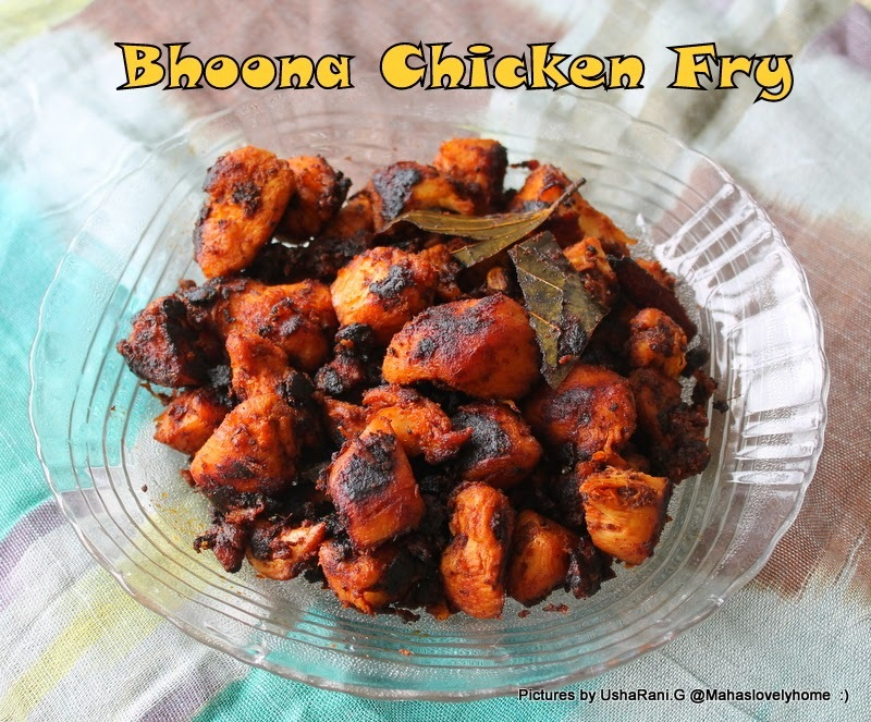 Bhoona Chicken Fry | Chicken bhuna fry | Quick and easy South indian style chicken stri fry