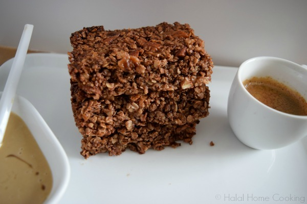 Chocolate Tahini Salted Caramel Flapjacks (Oat Bars)