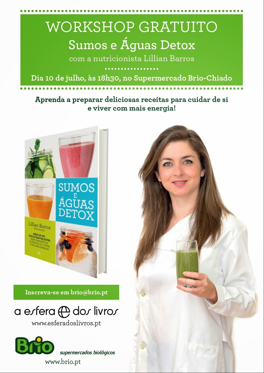 [Dica] Workshop Sumos e águas detox