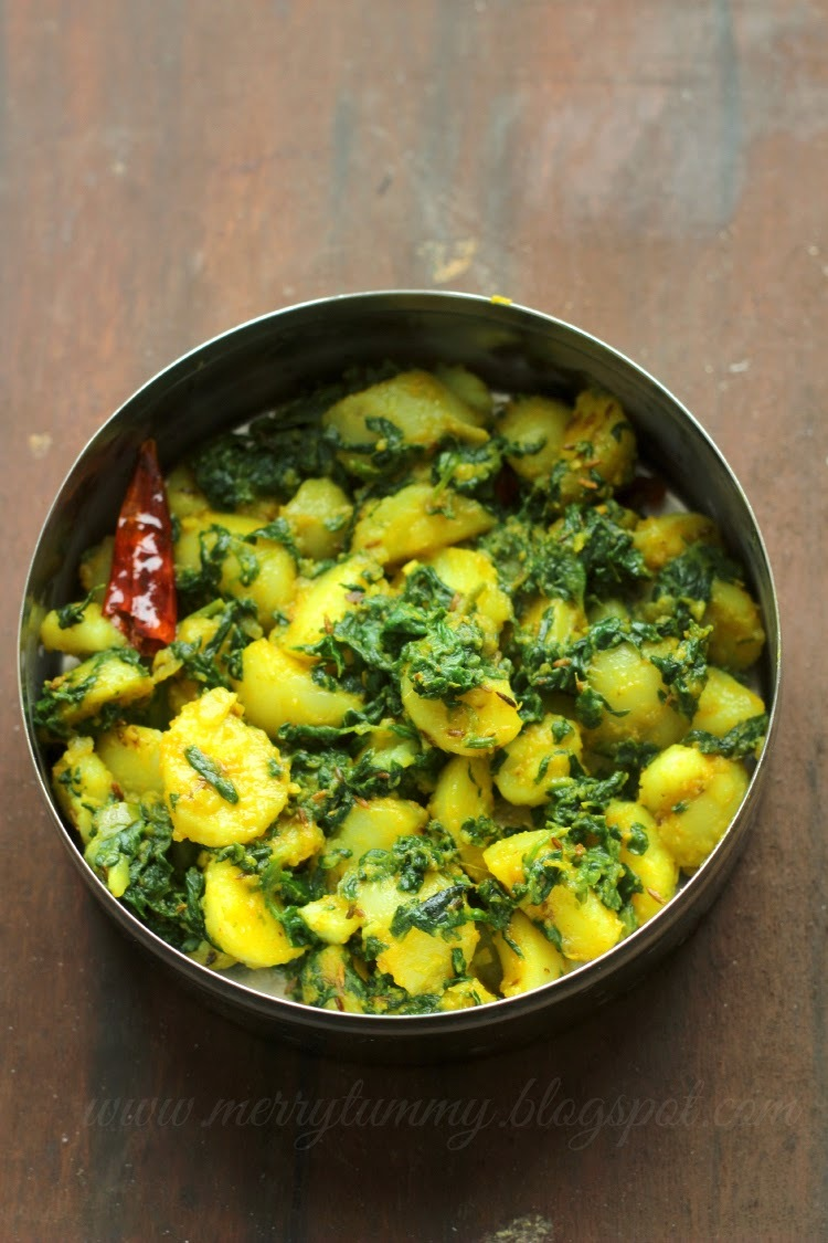 Aloo Palak (Potatoes Spinach Side) Restaurant Style: Dry Version