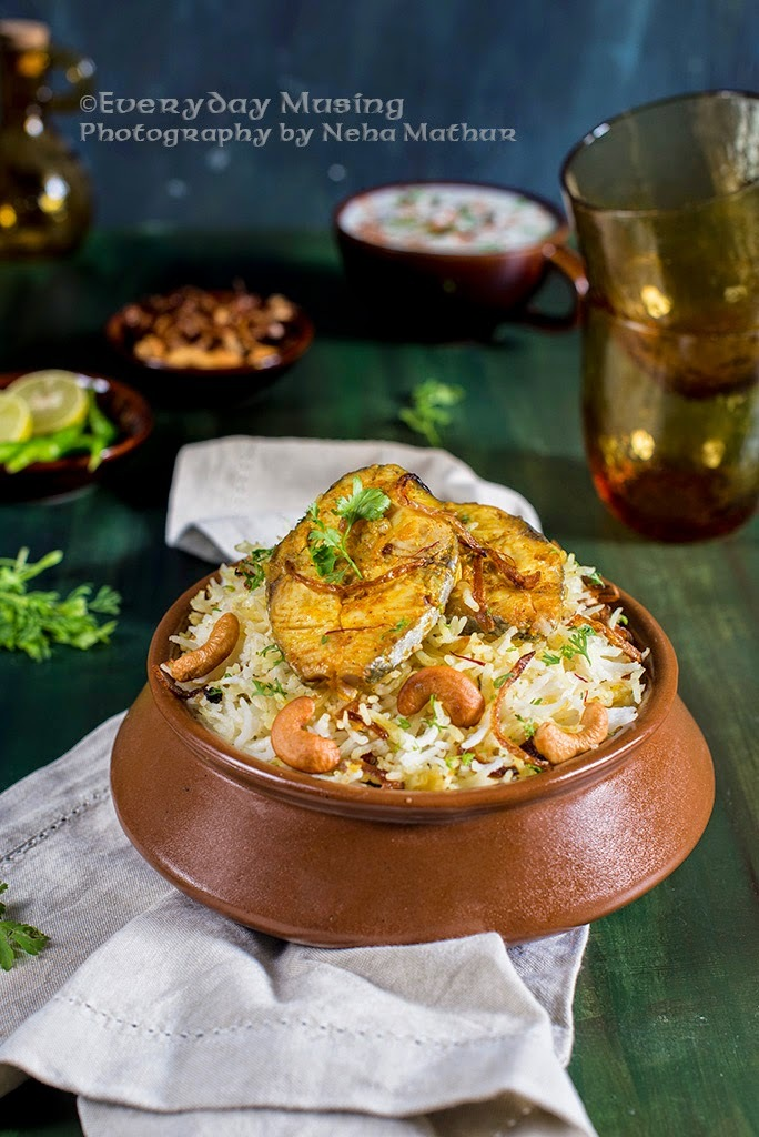 Fish Dum Biryani \ Rice cooked with Spices and Fish