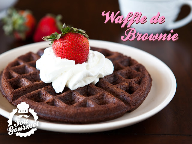 Waffles de Brownie
