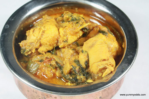 Methi Murg ~ Chicken with FenuGreek Leaves