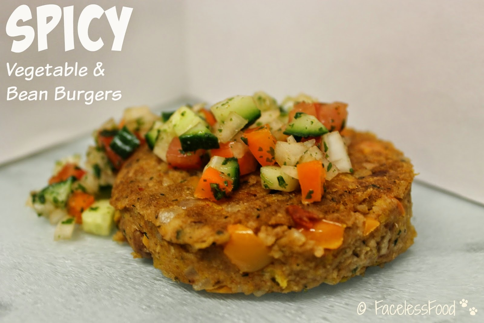 Spicy Vegetable & Bean Burgers