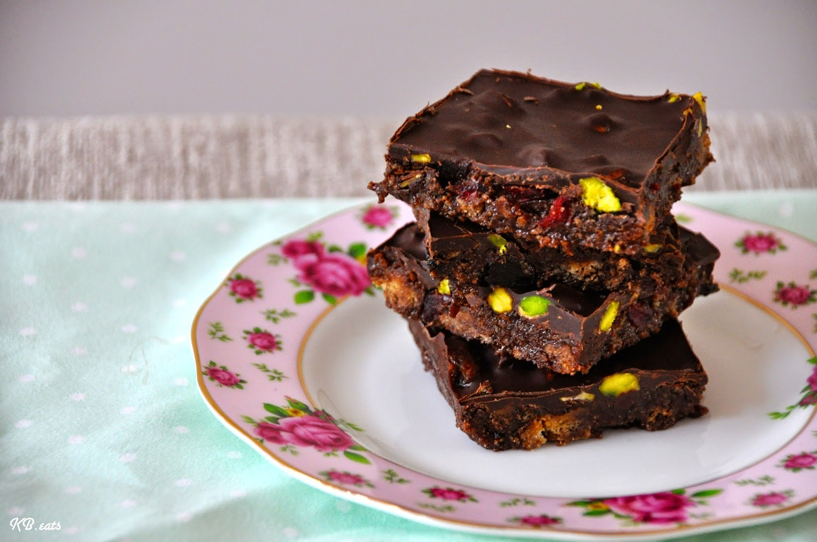 Pistachio & Cherry Tiffin