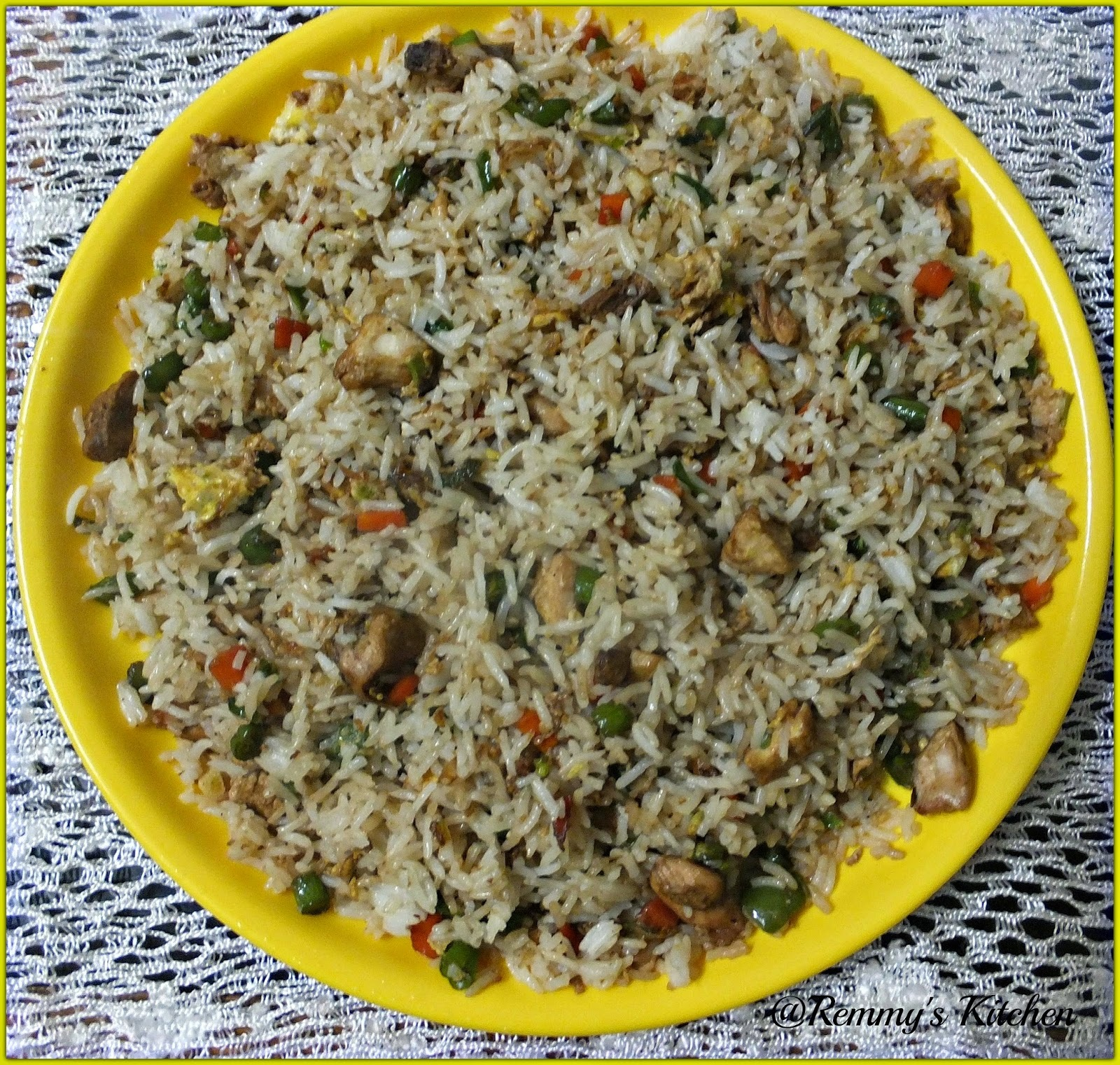 Chicken fried rice Fast food style