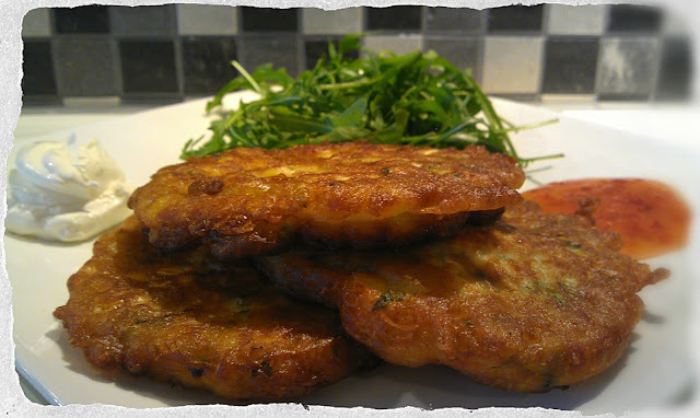 Sweetcorn, Courgettes & Mint Fritters …