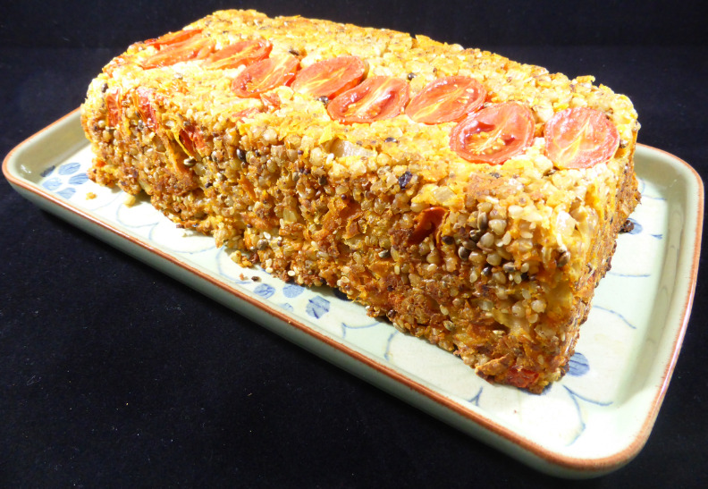 Green Gourmet Giraffes Tomato Nut Loaf with Buckwheat & Seeds (vegan & gluten-free)