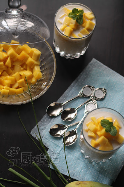 芒果椰奶西米露 【Mango and Coconut Sago Dessert】