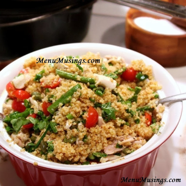 Toasted Couscous Salad with Asparagus and Tomatoes
