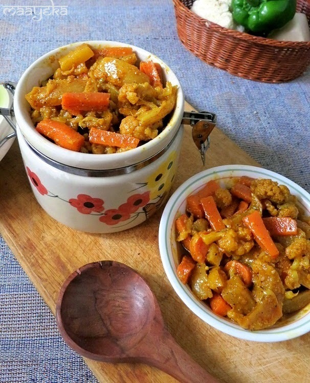 Gobhi,Gajar aur Shalgum ka Achar / Punjabi Mix Vegetable Pickle