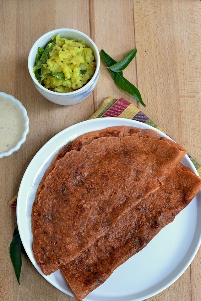 Tomato Dosa with Oats
