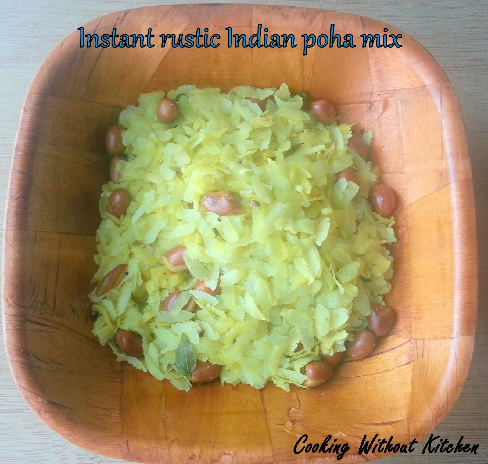 Instant Rustic Indian Poha (beaten rice) Mix