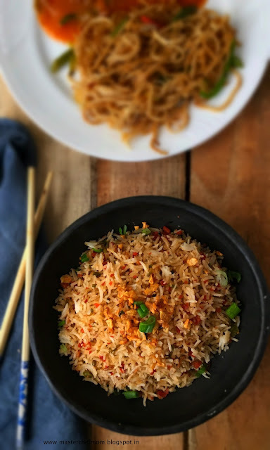 Burnt Garlic Rice | How to make Burnt Garlic Rice at home | IndoChinese Cuisine | Quick and Easy Recipe