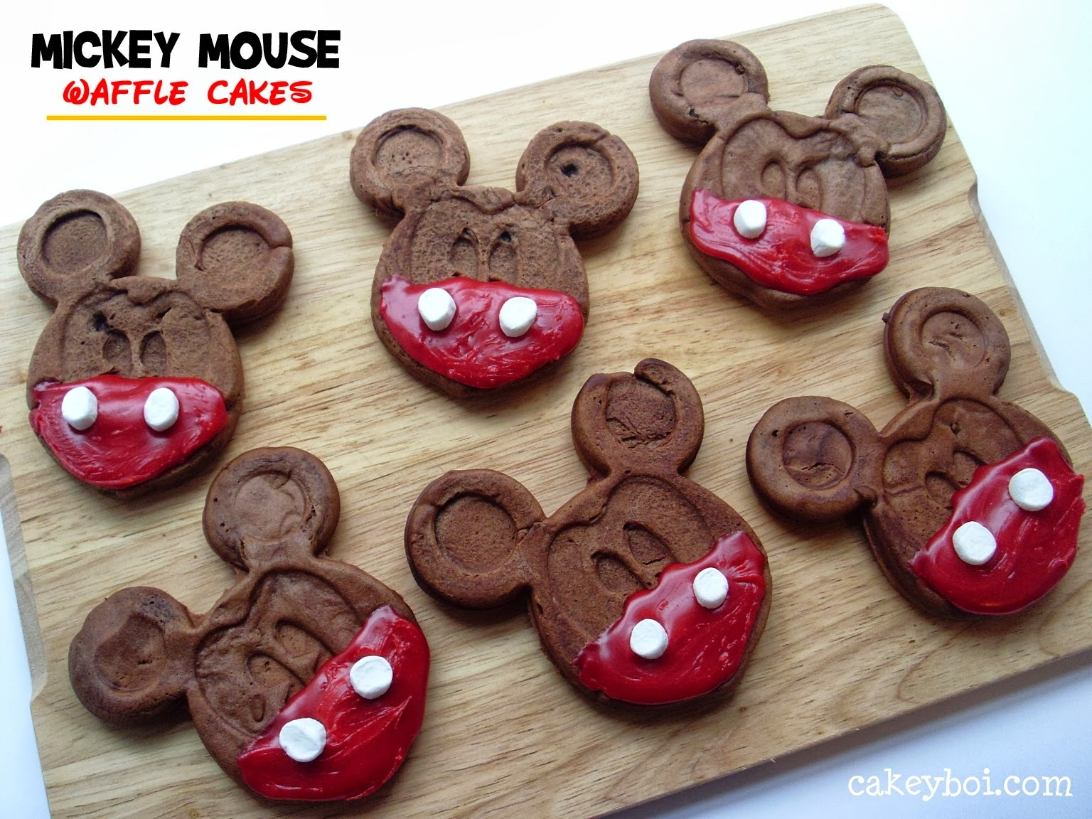 Mickey Mouse Waffle Cakes