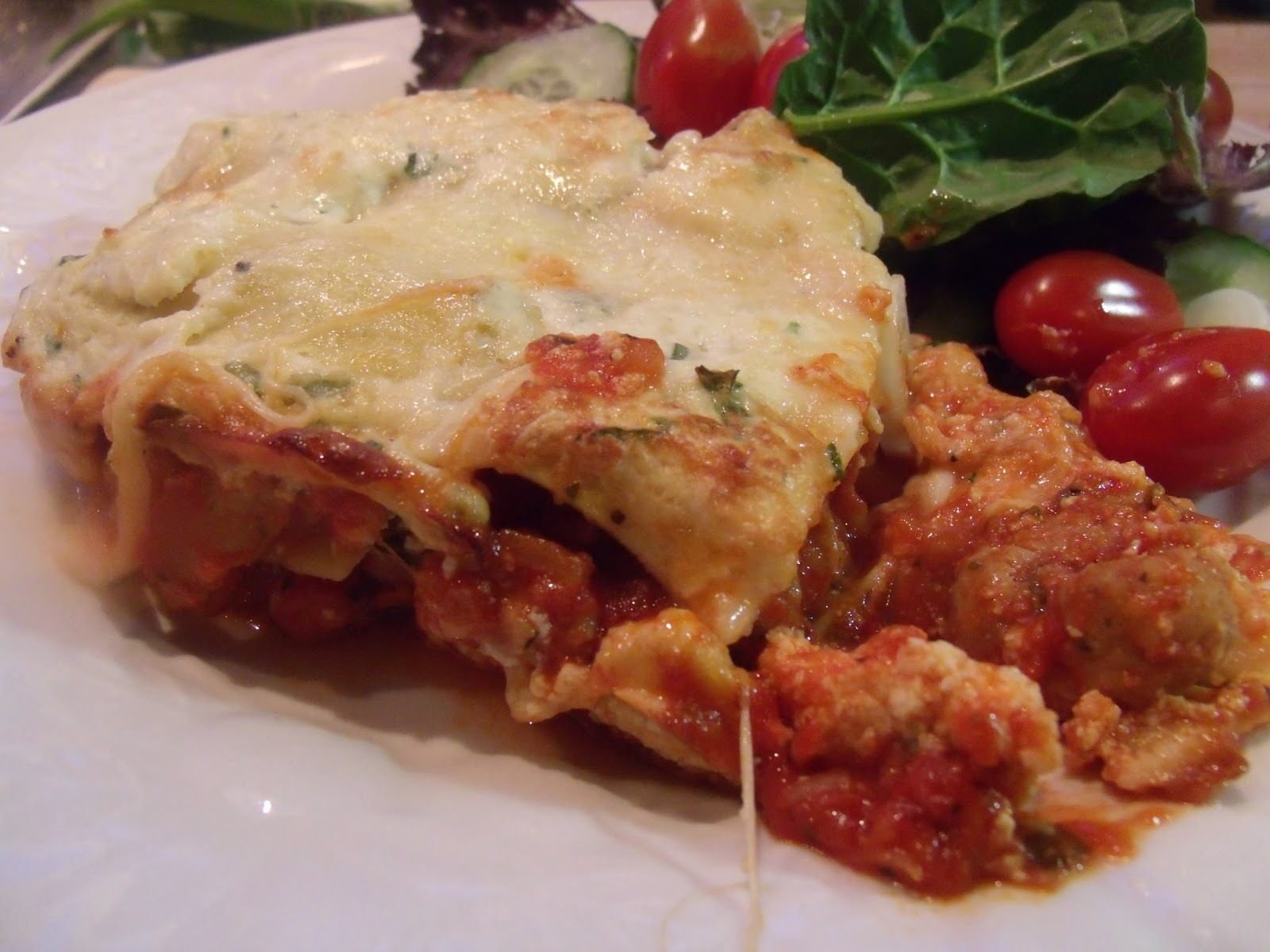 Not quite Barefoot Contessa, but close: Lasagne with Chicken Sausage