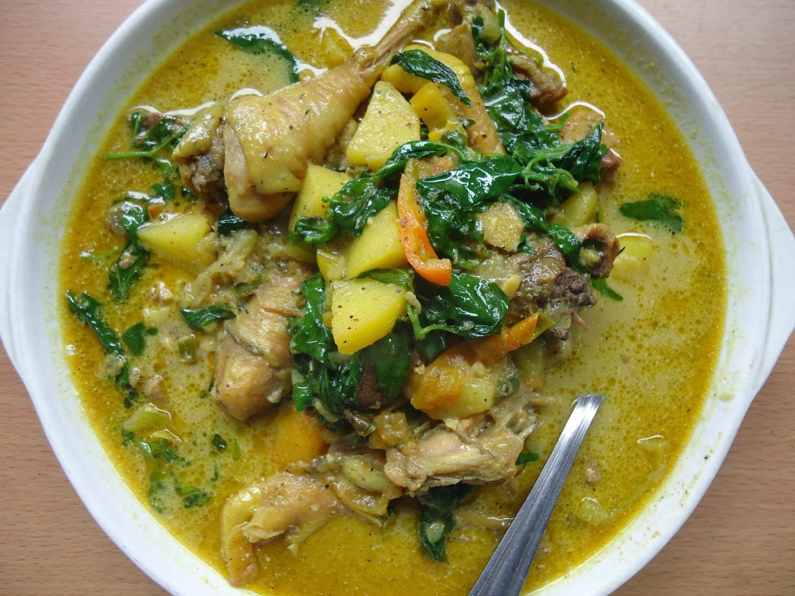 Chicken Curry: native chicken, coconut milk, chili leaves plus a lesson on Kosher