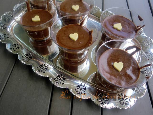 Mousse de chocolate sin lactosa